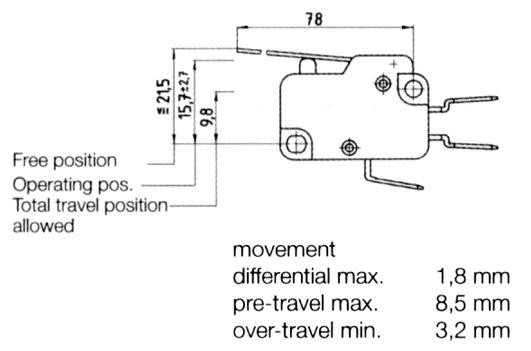 Mikrokytkin 1N on-on 10(4)A