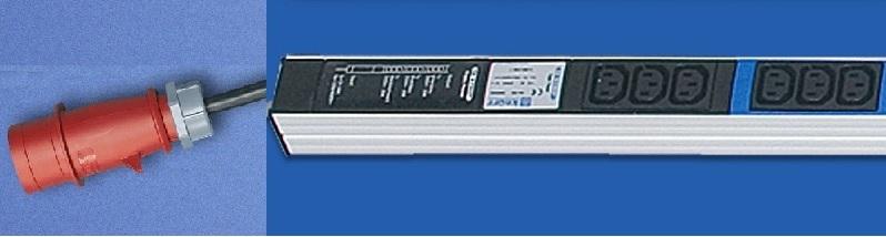 """19"""" TriplePower 6xC19, 3x16A, plugi"""