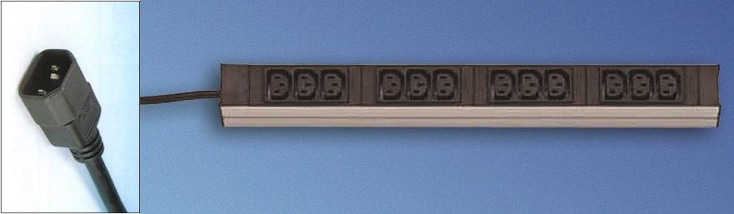 "DI-Strip (19"") 12xC13, johto+C14"