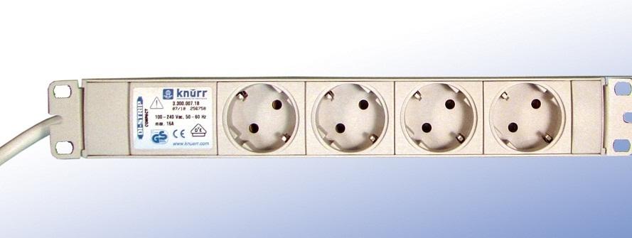 4 schuko-rasiaa, johto 2,5m