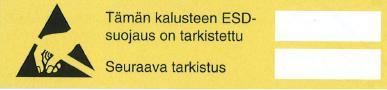 ESD tarkistustarra 10kpl/arkki