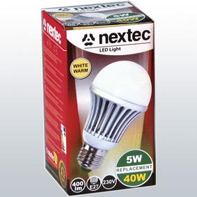 Ledlamppu*E27 230V 5W 410lm lämmin