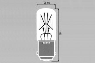 Lamppu Ba15d 16x54mm 48V 10W