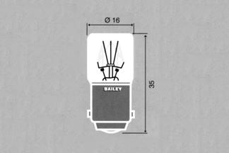 Lamppu Ba15d T16x35mm 24V 3W