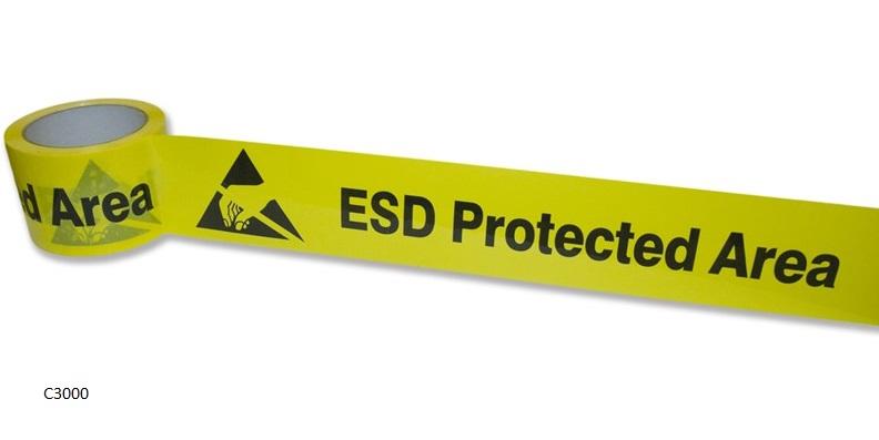 ESD-varoitusteippi * lattialle