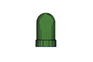 Värikupu* T-1 1/4 vihreä