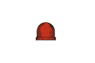 Värikupu T-1 1/4 punainen