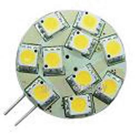 Ledlamppu G4 12VDC 120lm 1,5W lämmi