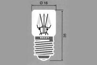 Lamppu E-14 T16x35mm 48V 5W