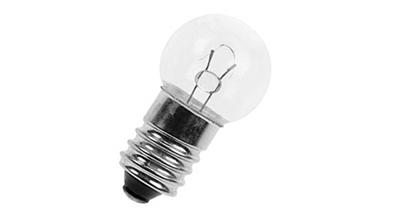 Lamppu E-10 6V 50mA G11x24mm