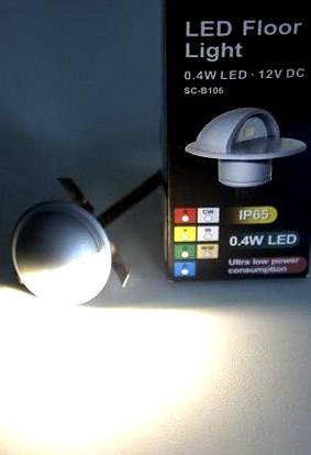 Askelvalo led 12VDC 0,4W lämminvalk