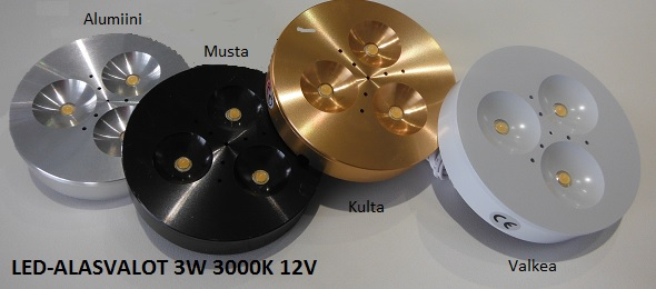 Alasvalo 12-24VDC 3x1W 220lm 120ast