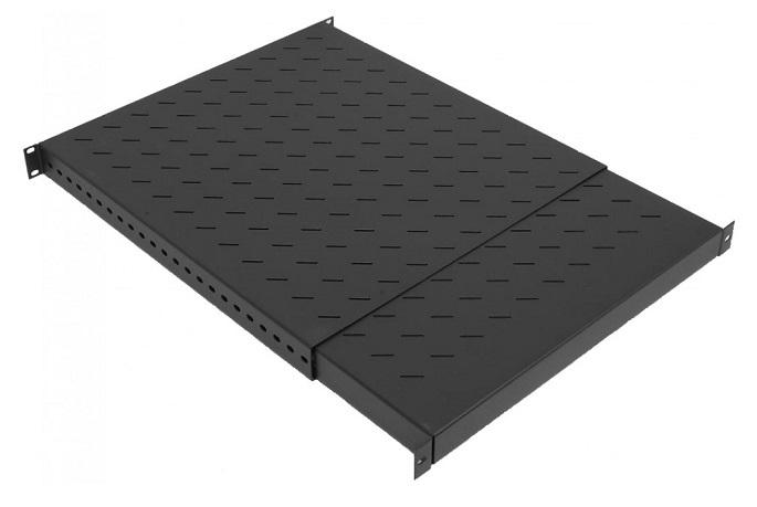 Säädettävä hylly 1U S500-900 musta