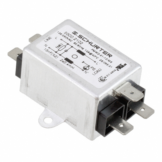 Suodatin,build-in,1-vaihe,3A/250V