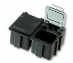 SMD-laatikko, läpinäkyvä kansi