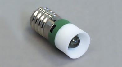 Led E-10 12VDC vihreä RoHs