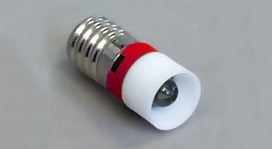 Led E-10  230V AC punainen RoHs