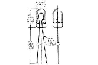 Lamppu T-1WT 3V 12mA