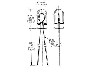 Lamppu T-1WT 3V 40mA