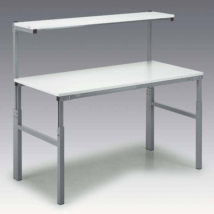 Työpöytä hyllyllä, 700x1800mm