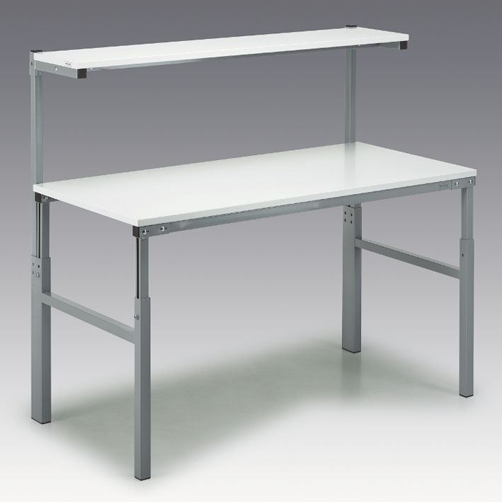 Työpöytä hyllyllä, 900x1800mm