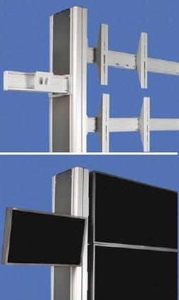Sivuteline monitorille (L)400
