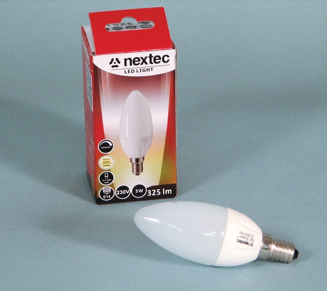 Ledlamppu*E14 230V 5W 3000K 325lm