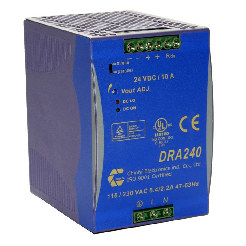90-264Vac/24Vdc,10A 240W,teholähde