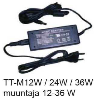 Muuntaja 12W 12V alumiinikiskolle