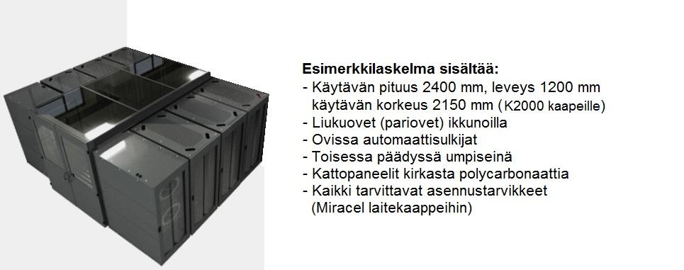 SmartAisle-käytävä 2000x1200x2400