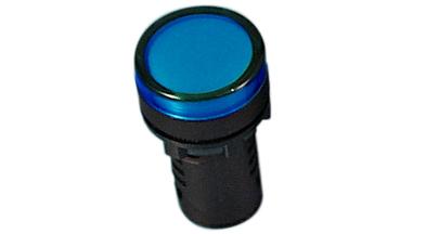 Indik 16mm sininen 230VAC