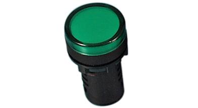 Indik 16mm vihreä 230VAC