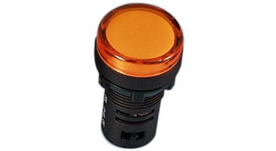 Indik 16mm oranssi 24VDC