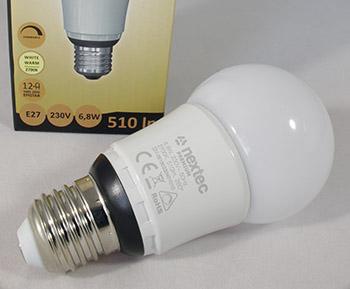 Ledlamppu E27 6,8W 2700K 510lm dim