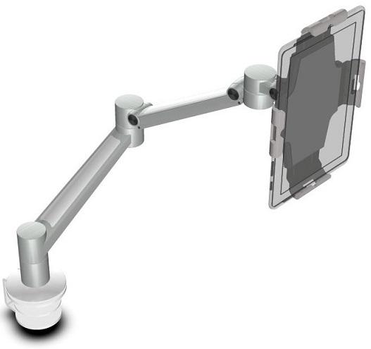 Tablet teline pöydälle, hopea/valk.