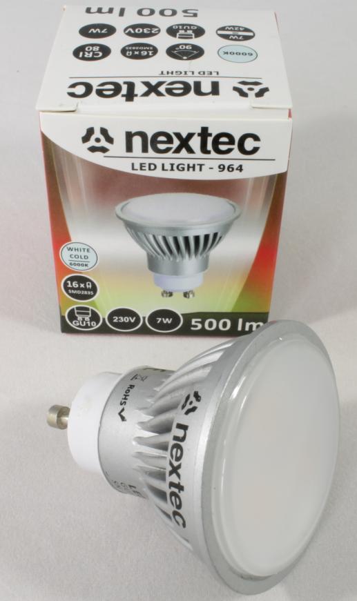 Ledlamppu*GU10 230V 7W 500lm 6000K