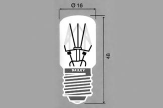 Lamppu E-14 16x45mm 24V 15W C-2V