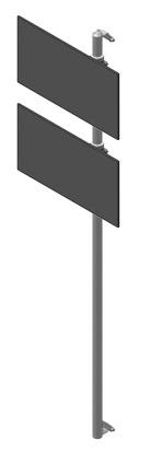 ViewMate-seinäteline 2 monitorille