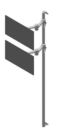 Seinäteline 2 monitorivarrella