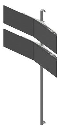 Seinäteline 2x2 monitoritelineellä
