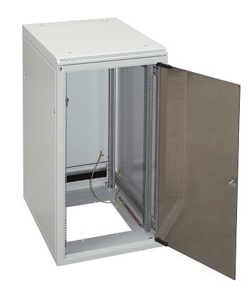 Verkkokaappi 24U L600 S800, lasiovi