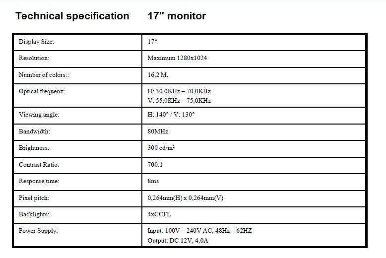 """17"""" LCD-näyttö & näppäimistökonsoli"""