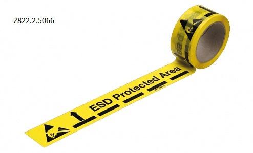 ESD-varoitusteippi lattialle