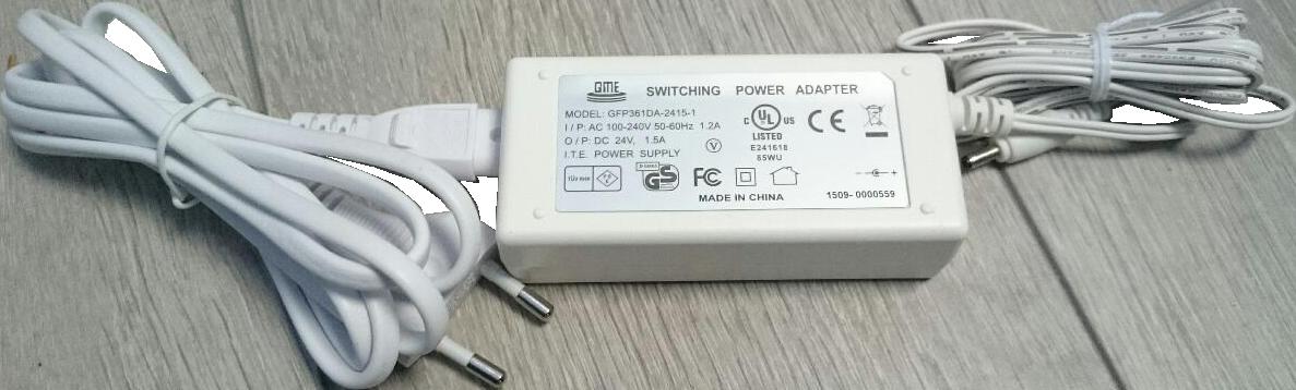 Muuntaja 36W 24VDC alumiinikiskolle