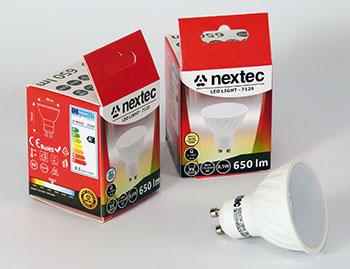 Ledlamppu GU10 230V 8,5W 6000K