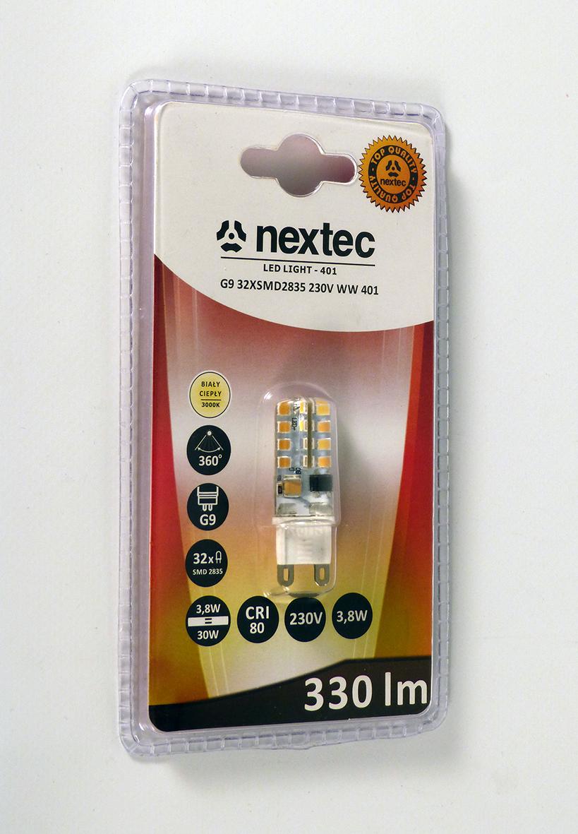 Ledlamppu G9 230V 330lm 3,8W 3000K