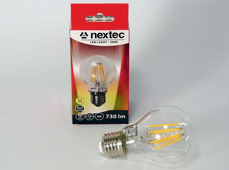 Ledlamppu E-27 230V 6W 730lm 3000K