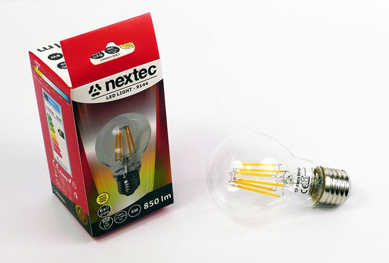 Ledlamppu E-27 230V 8W 850lm 3000K
