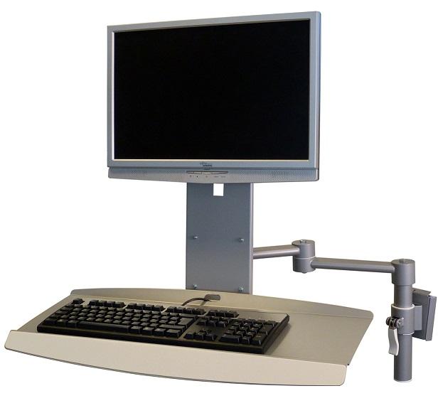 Näppis-monitoriteline, korkeussäätö