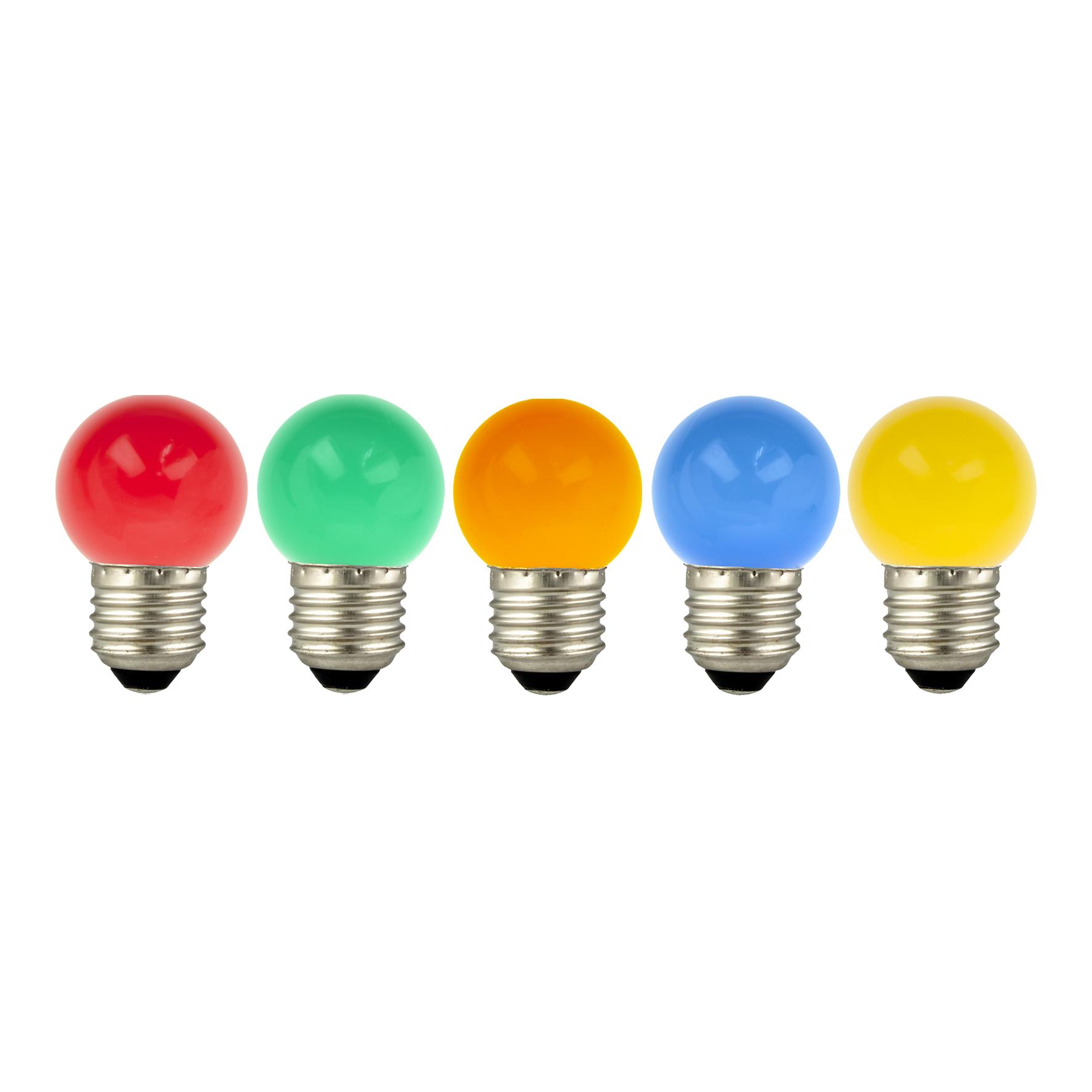 LED Ball E27 G45 220-240V 1W oranss
